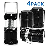 LED Camping Lantern - PARTYSAVING [4-Pack] Portable Bright Camping Light with Collapsible Design and 30 LED Lights, APL1424