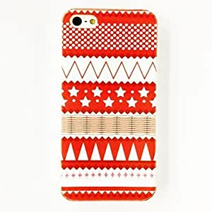 Star Waves Triangle Stripe Pattern Plastic Hard Case for iPhone 4/4S , Multicolor