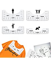 T-Shirt Alignment Ruler, Craft Ruler with Guide Tool for Making Fashion Center Design, Adult Youth Toddler Infant