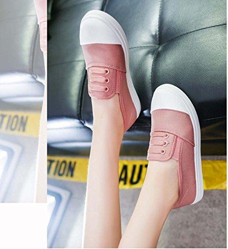 Donna Della Scarpe Di Da Scarpe Color FARALY Pink Casual Piatte Canapa Della Bocca Tela Scarpe dAqIw0Pw