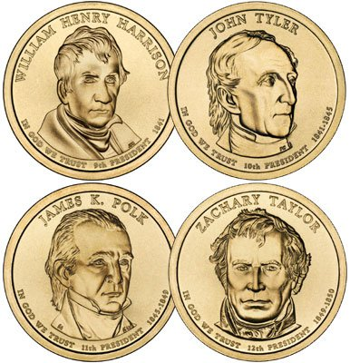 2009 P Presidential Dollar Set (4 Coins) Uncirculated (Dollar Coin Presidential Set)