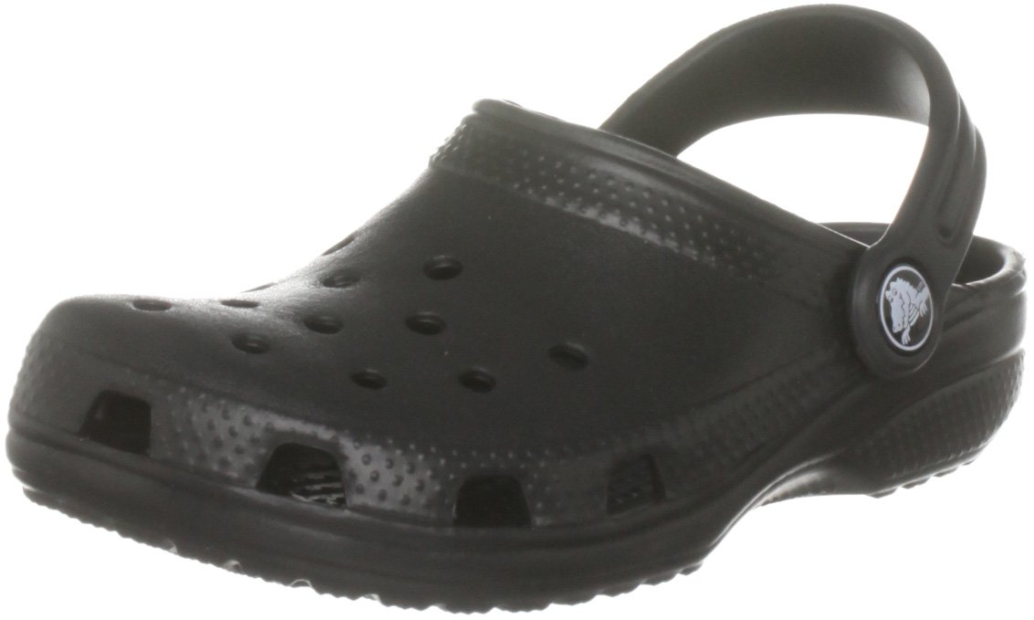 Crocs Kid's Classic K Clog 10006, Black, 1 US Little Kid/3 US Big Kid