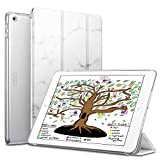 #3: ESR iPad 2017 iPad 9.7-inch Case, Lightweight Smart Case Trifold Stand with Auto Sleep/Wake Function, Microfiber Lining, Hard Back Cover for the Apple iPad 9.7-inch,Marble