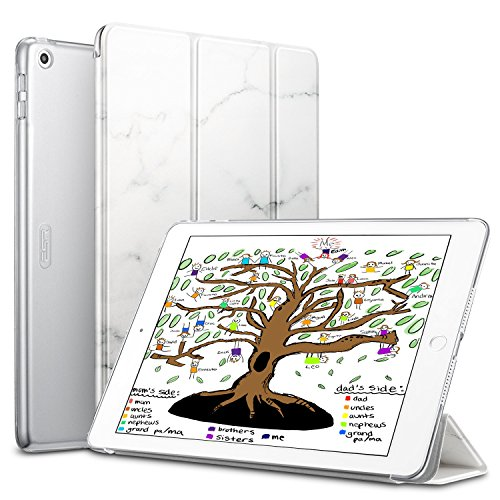 ESR-iPad-97-20182017-Case-Lightweight-Smart-Case-Trifold-Stand-with-Auto-SleepWake-Function-Microfiber-Lining-Hard-Back-Cover-for-the-Apple-iPad-97-inchMarble