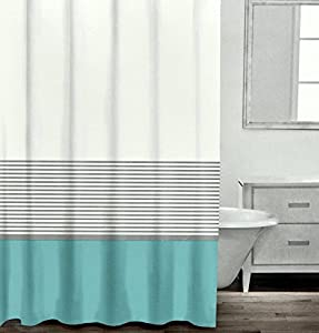 Amazon.com: Modern Striped Shower Curtain By Caro Home ...