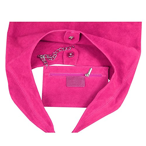 OBC Only-Beautiful-Couture, Borsa a mano donna Rosa Rosa (Metallic) ca.: 43x32x17 cm (BxHxT) Pink (Wildleder)