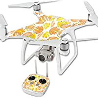 MightySkins Protective Vinyl Skin Decal for DJI Phantom 4 Quadcopter Drone wrap cover sticker skins Yellow Petals