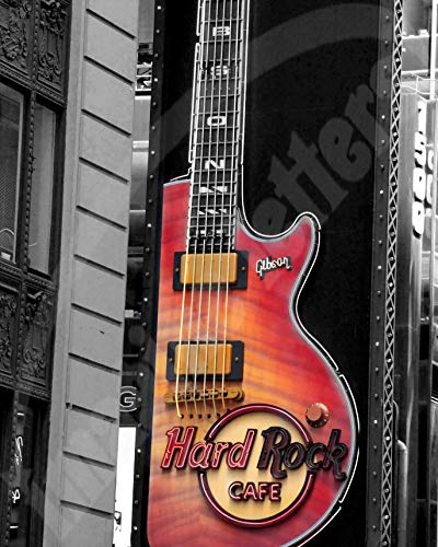 Museum Cafe - Imagine Letters Hard Rock Cafe York Sign Art Print 16 X 20 - Limited Edition - Museum Quality