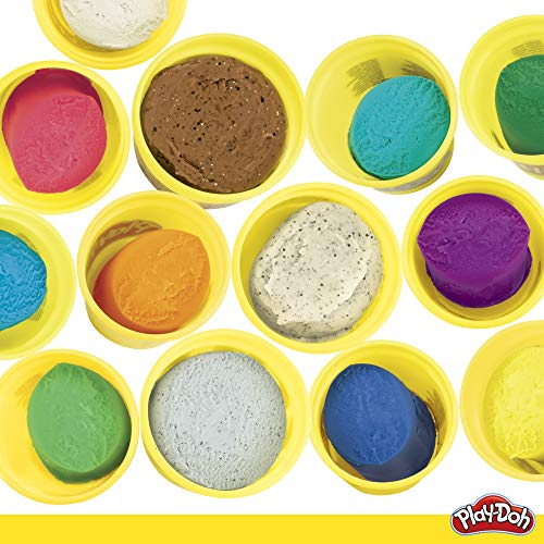 Play-Doh Bulk Mermaid Colors 13-Pack of Non-Toxic Modeling Compound with Sparkle and Metallic Colors Plus 5 Tools…