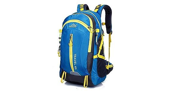 Bolso al aire libre del alpinismo que monta los deportes mochila viaje impermeable doble bolsa de hombro , blue: Amazon.es: Deportes y aire libre