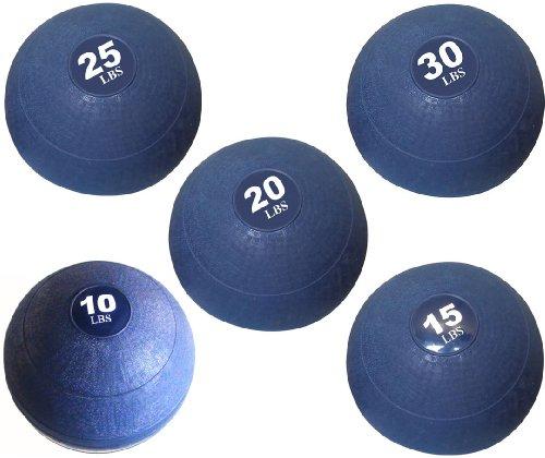Apollo Athletics Slam Ball Set - 10-15-20-25-30 lbs. - Blue by Ironcompany.com