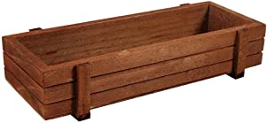 Lazmin Wooden Planter Box, Indoor/Outdoor Rustic-Style Wooden Herb Flower Succulent Planter Box, Rectangle Home Garden Storage Box