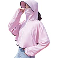 Fine Women Sun Protection Clothing Long Sleeve Sun Cooling UPF 50+ UV Cooling Sun Protection Body Shawl, Shrug for Driving or Beach