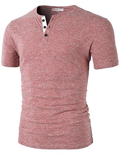 H2H Casual Basic Henley T shirt