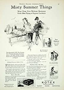 1927 Ad Vintage Kotex Sanitary Napkin Pad Feminine Hygiene Menstruation Period - Original Print Ad