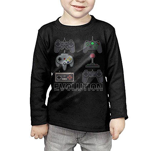 Evolution Of Video Game Children T-Shirt,Long Sleeve Tee For Boy