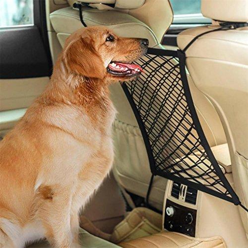 Pet Safety Gate, Sacow Car Dog Barrier Seat Net Organizer Universal Stretchy Auto Backseat Storage Net
