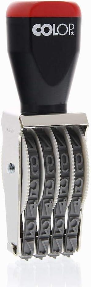9 mm COLOP 09004 Stempel mit 4 Gummib/ändern