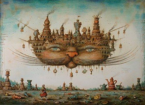 Artifact Puzzles - Tyukanov Cheshire Cat Wooden Jigsaw Puzzle