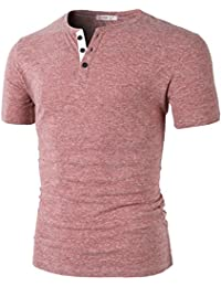 "<span class=""a-offscreen"">[Sponsored]</span>Mens Fashion Casual Front Placket Basic Henley T-Shirts"