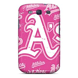 Durable Cell-phone Hard Covers For Samsung Galaxy S3 With Unique Design High-definition Oakland Athletics Pattern JacquieWasylnuk