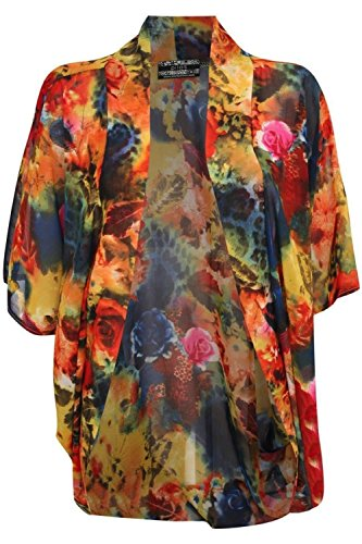 Pilot Flor Imprimir Kimono Top Multi