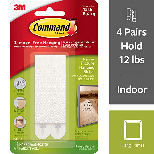 Command Picture Hanging Strips, Narrow (17207-ES)