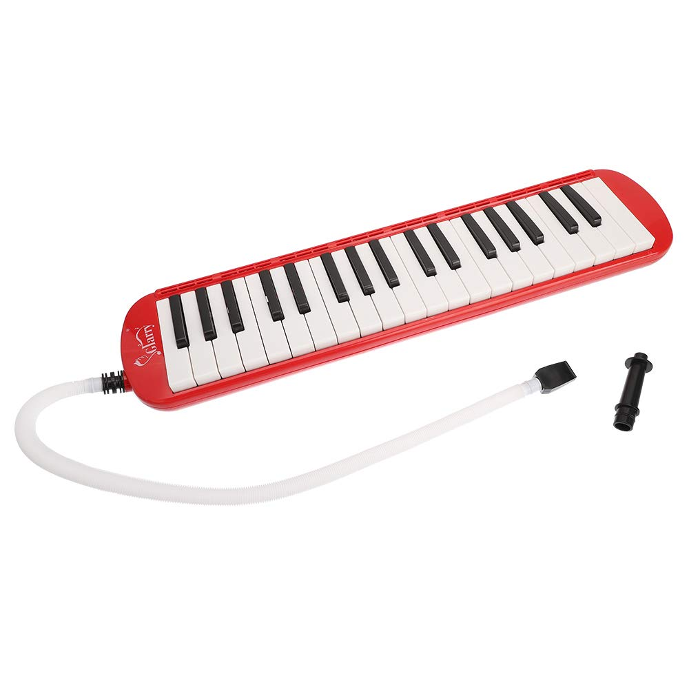 Festnight 37 Key Melodica Mouthpiece Bag Piano Style Pianica with Carrying Bag and Cleaning Cloth 37-Key Portable Melodica Red by Festnight (Image #8)