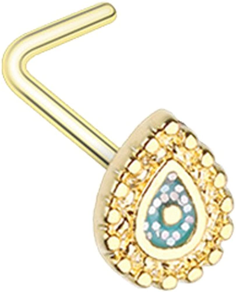 Amazon Com Inspiration Dezigns Sparkling Ornate Teardrop Gold L
