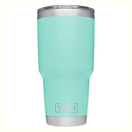 6db71d1bacb Amazon.com: YETI Rambler 30 oz Stainless Steel Vacuum Insulated Tumbler  with Lid, Seafoam: Sports & Outdoors