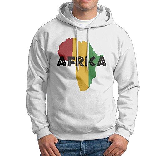 TinaTN Men's Africa Map Flag Fashion Athletic Hoodie Hooded Sweatshirt by TinaTN