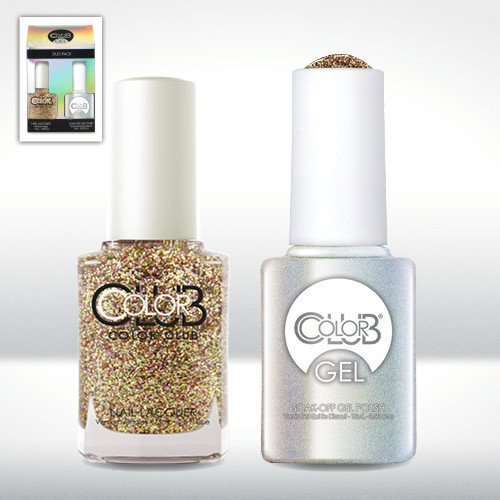 Color Club Gel GINGERBREAD Glitter Color Club Gel + Lacquer Duo