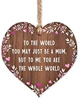 Gift for mum | Worlds Best Mum Wooden Plaque | Mothers Day gifts for Mums | thank you birthday christmas | something...