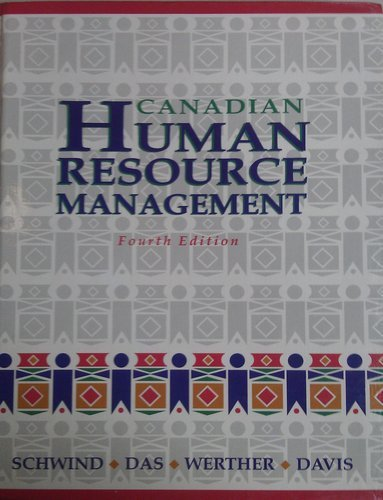 Canadian Human Resource Management Fourth Edition