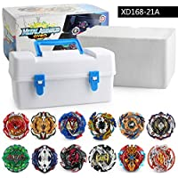 Tops Beyblade Burst Set Toys Beyblades Arena Bayblade Metal Fusion Fighting Gyro With Launcher Spinning Top Bey Blade Blade Toys (XD168-21AWhite*1060g)