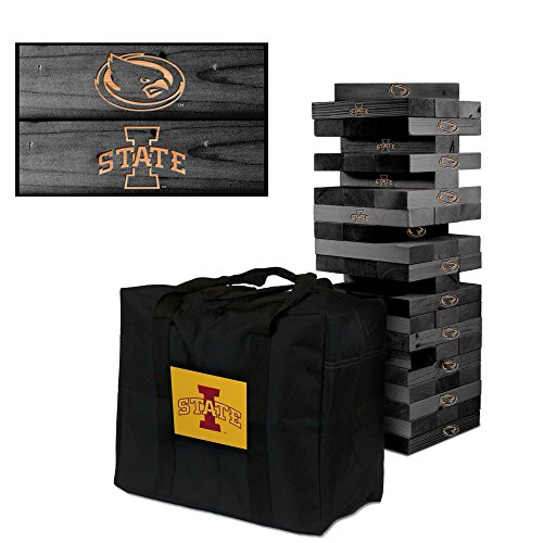 Iowa State University Cyclones Onyx Stained Giant Wooden Tumble Tower Game by Victory Tailgate