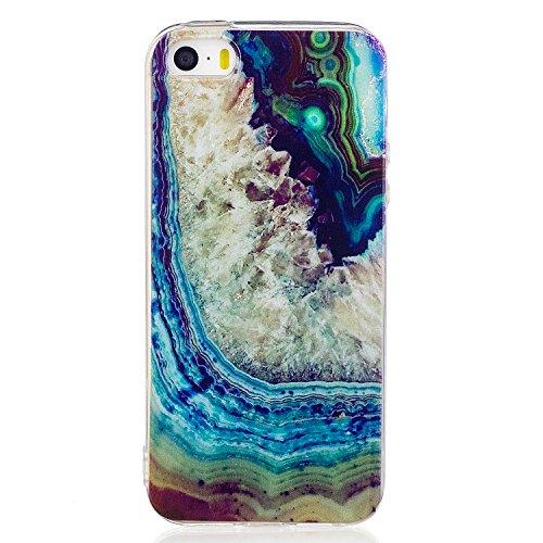 Price comparison product image Beryerbi iPhone 5 5S SE Case Ultra Slim [Shock Absorption] Soft TPU Gel Bumper for Apple 5 5S SE (1, iPhone 5 5S SE)