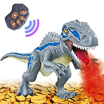 Dinosaur Toys for 3-5 12 months Outdated Boys Ladies, Digital Dinosaur Toy Strolling with LED Gentle Up Roaring Sensible Simulation Sounds Dino Distant Management Dinosaur Toys for Youngsters Items Age 3 4 5 6 7