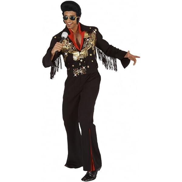 Mortino Disfraz Rock Star Elvis (Tallas M – XXL Traje Negro ...