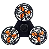 Weite Flying Toys, [2018 New] Mini Fingers Flying Gyro, Adults Kids Flying Fidget Spinner, Creative Toy Whirling Aircraft, Relieving Tension Stress and Anxiety [USB Rechargeable] (Black)