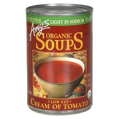 Amy's Organic Soup Low Fat Cream of Tomato 14.5 oz (Pack of 24) by Amy's by Amy's