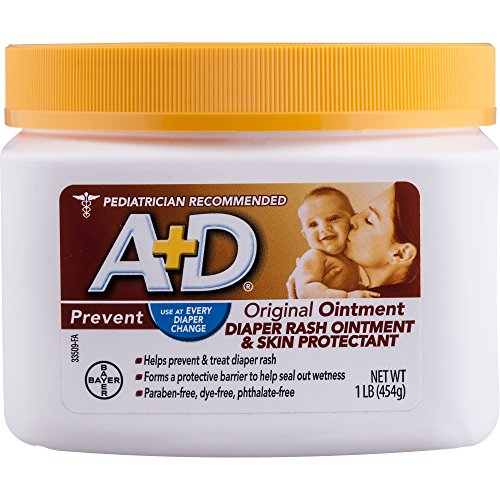 : A+D Original Diaper Rash Ointment, Skin Protectant With Lanolin and Petrolatum, Seals Out Wetness, Helps Prevent Baby Diaper Rash, 1 Pound Jar.