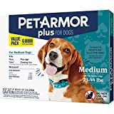 PetArmor Plus for Dogs, Flea and Tick Prevention for Medium Dogs (23-44 Pounds), Includes 6 Month Supply of Topical Flea Treatments