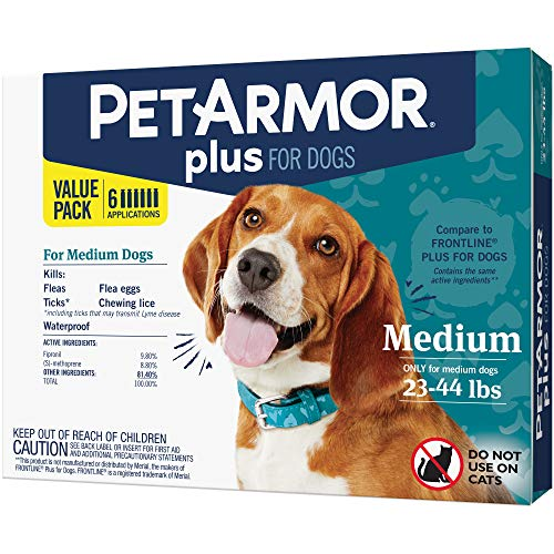 PETARMOR Plus for Dogs, Flea & Tick Prevention for Large Dogs Includes 3 Month Supply of Topical Flea Treatments