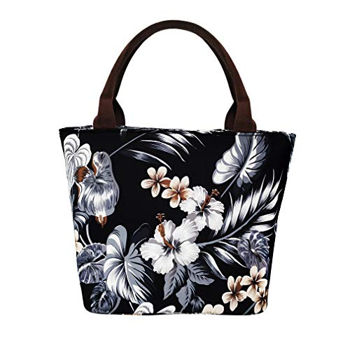 Floral Lunch Bag For Women Insulated Lunch Box Water-resistant Thermal Tote Bag for Work/Office/Beach - Thermal Floral Tote