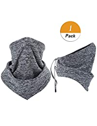 LONGLONG Neck Warmer Gaiter- Winter Thicken Soft Elastic Fleece Skiing Face Scarf Mask