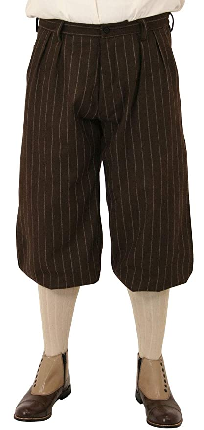 1920s Men's Pants, Trousers, Plus Fours, Knickers Historical Emporium Mens Bosworth Wool Blend Pinstripe Knickers $74.95 AT vintagedancer.com