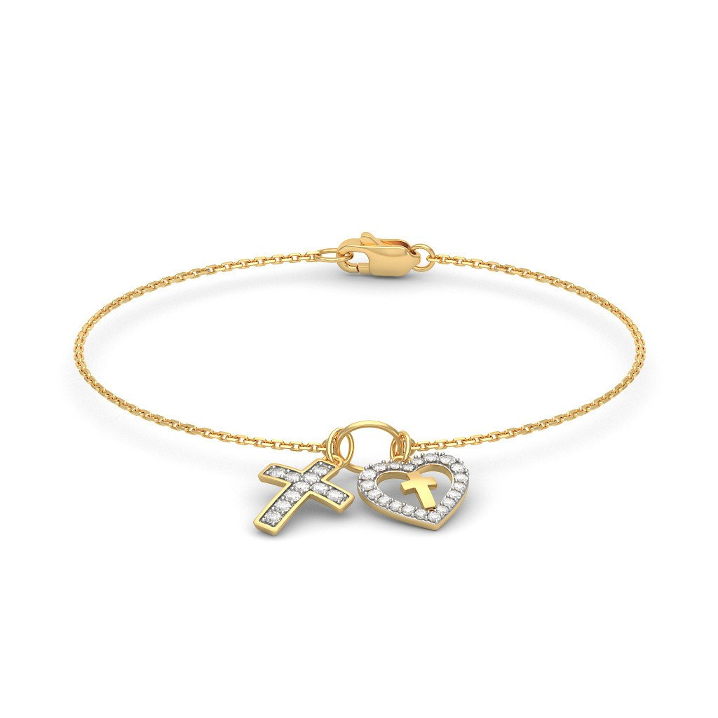 18K Yellow Gold 7.25 inches IJ| SI 0.472 cttw Round-Cut-Diamond identification-bracelets Size