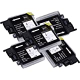 5 Pack Compatible Brother LC-61 , LC-65 5 Black for use with Brother MFC-J410, DCP-145C, DCP-165C, DCP-195C, DCP-375-CW, DCP-385C, DCP-395-CN, DCP-585-CW, DCP-6690-CW, DCP-J125, MFC-250C, MFC-255-CW, MFC-290C, MFC-295-CN, MFC-490-CW, MFC-495-CW, MFC-5490-CN, MFC-5890-CN, MFC-5890-CN, MFC-5895-CW, MFC-6490-CW, MFC-790-CW, MFC-795-CW, MFC-990-CW, MFC-J220, MFC-J410, MFC-J415-W, MFC-J615-W. Ink Cartridges inkjet. LC-61-BK © Zulu Inks