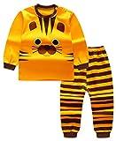 Unisex Baby Boys Girls 2-Piece Cotton Pajama Sleepwear Outfits Set(6-12 Months,Tiger)